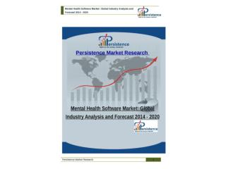 Global Mental Health Software Market to 2020