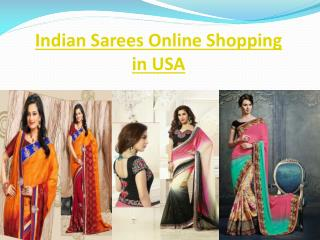 Indian Sarees Online Shopping in USA