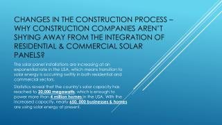 Changes in the Construction Process – Why Construction Compa