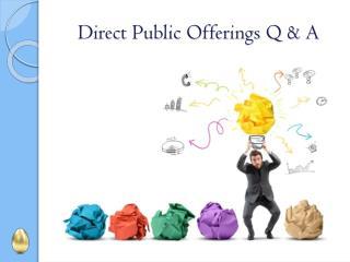 Direct Public Offerings