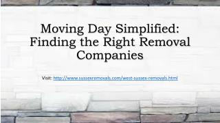 Moving Day Simplified Finding the Right Removal Companies