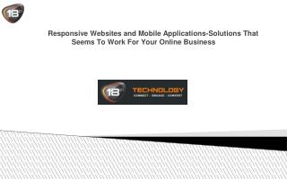 Responsive Websites and Mobile Applications-Solutions That