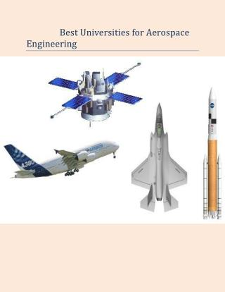Best Universities for Aerospace Engineering