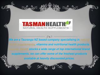 Online Health Supplements -TasmanHealth.co.nz