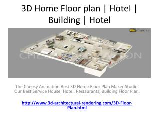 3D Home Floor plan | Hotel | Building | Hotel