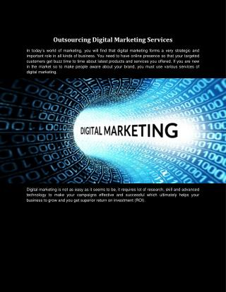 Outsourcing Digital Marketing Services