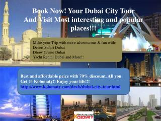 Dubai City Tour package @ cheapest Price