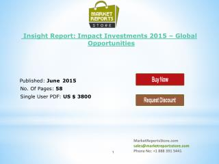 Impact Investment Industry Analysis & Wealth Management Rese