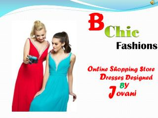 Cocktail Dresses Designed By Jovani - B Chic Fashions