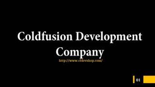 Professional ColdFusion Development Company