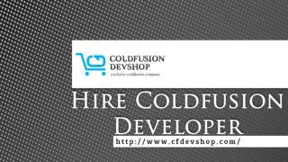 Hire Dedicated ColdFusion Developer�