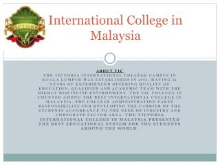 International College in Malaysia