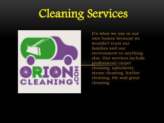 Orion Cleaning Services