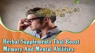 Herbal Supplements That Boost Memory And Mental Abilities