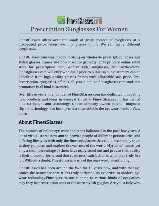 Prescription Sunglasses For Women