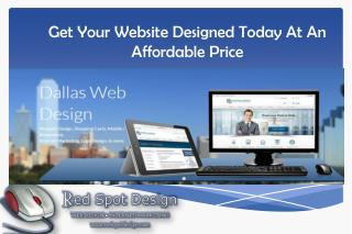 Get Your Website Designed Today At An Affordable Price