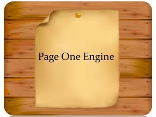 Dori Friend Page One Engine