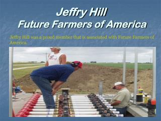 Jeffry Hill - Future Farmers of America
