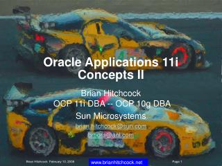 Oracle Applications 11i Concepts II