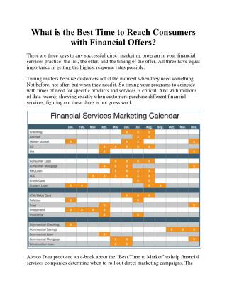 What is the Best Time to Reach Consumers with Financial