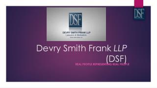 Toronto Lawyers - Devry Smith Frank LLP
