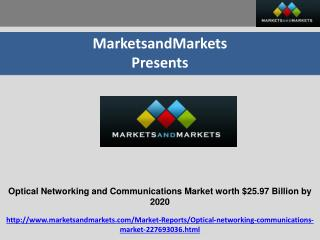 Optical Networking and Communications Market by Technology