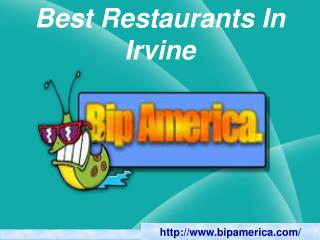 Best Restaurants In Irvine