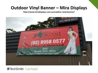 Several uses and advantage of outdoor vinyl banners.