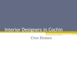 Interior Designers in Cochin