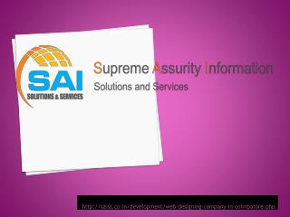 Web designing company in coimbatore - SAISS