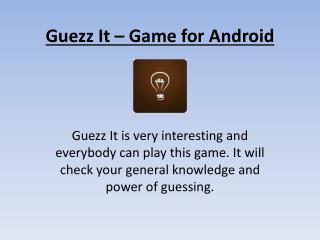 Guezz it - word guessing game for Android