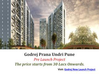 Godrej Prana - 1/2/3 BHK at Best price Pune