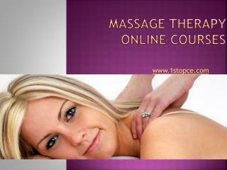 Massage Therapy Online Courses