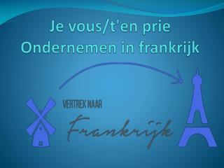 ondernemen in frankrijk
