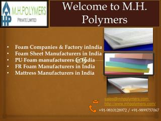 Foam Sheet Manufacturers in India