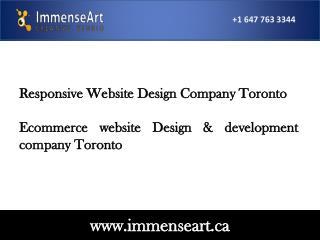 Responsive website design company toronto web design toronto