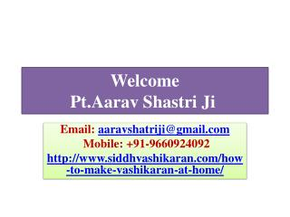 Live Raptorial Live With Make Vashikaran   91-9660924092