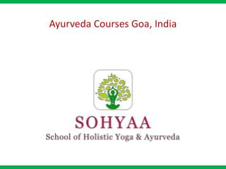 Ayurveda Courses Goa, India
