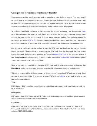 IFSC Online - IFSC codes | ifsc codes | bank ifsc codes | ba