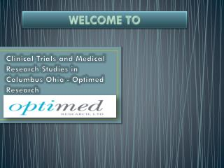 Clinical Trials and Medical Research Studies - www.optimedre
