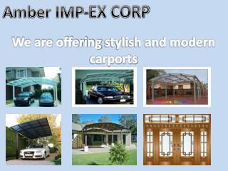 Stylish and Modern Carports