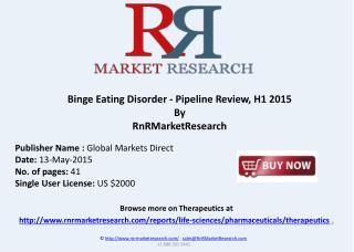 Binge Eating Disorder - Pipeline Review, H1 2015