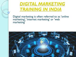 Digital MarketingTraining In India
