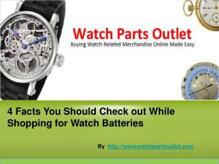 Things to know While Purchasing Watch Batteries