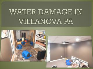 WATER DAMAGE IN VILLANOVA PA