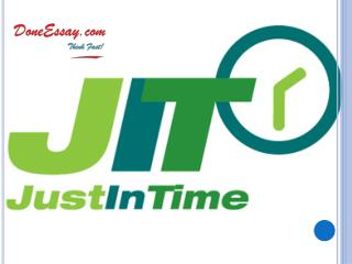 ]Just In Time (JIT) Inventory Management