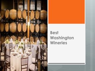 Best Washington Wineries