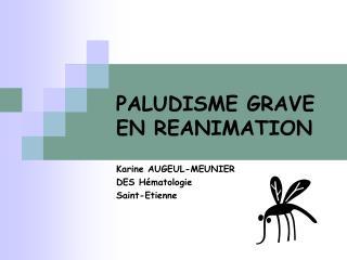 PALUDISME GRAVE EN REANIMATION