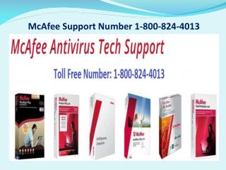 McAfee Support Number 1-800-824-4013