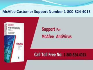 McAfee Customer Support Number 1-800-824-4013